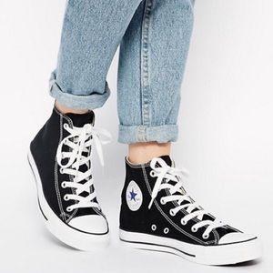 Converse Chuck Taylor Black High Top Sneakers 10.5